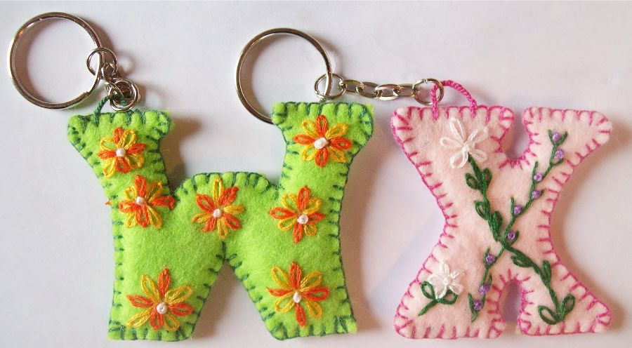 Letter keychains