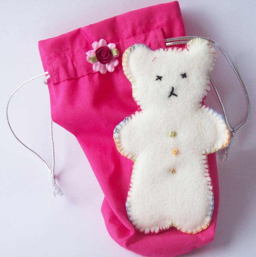 Child bridesmaid bag and toy